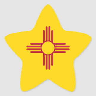 New Mexico/Mexican State Flag (Zia), United States Star Sticker