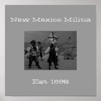 New Mexico Militia, Est. 1598 Poster