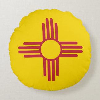 New Mexico minimalist Flag Round Pillow