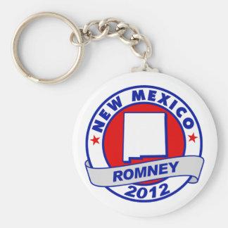 New México Mitt Romney Llavero Redondo Tipo Pin