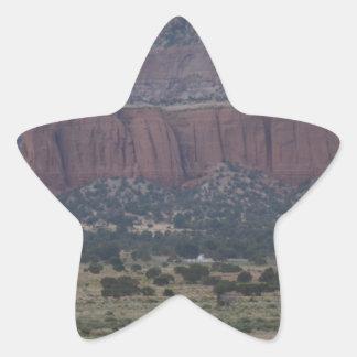 New Mexico Mountain scene Star Sticker