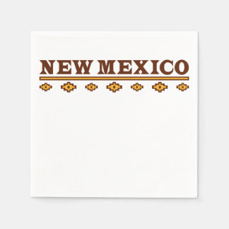 New Mexico Native Pattern Standard Cocktail Napkin