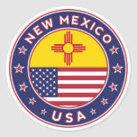 New Mexico, New Mexico to sticker, phone marry Classic Round Sticker