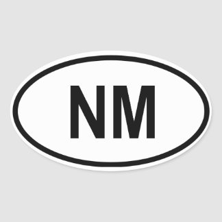 "New Mexico ""NM"" Oval Sticker"