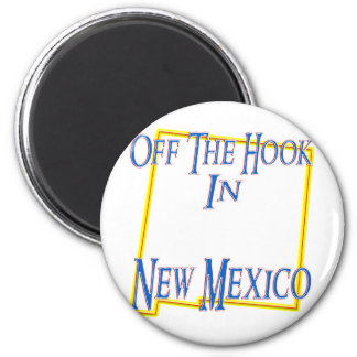 New Mexico - Off The Hook 2 Inch Round Magnet
