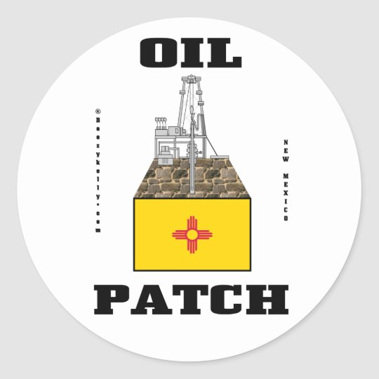 New Mexico Oil Patch Sticker,Oil Field,Oil,Gas Classic Round Sticker