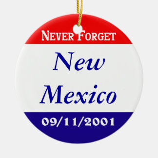 New Mexico Double-Sided Ceramic Round Christmas Ornament