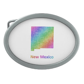New Mexico Oval Belt Buckle