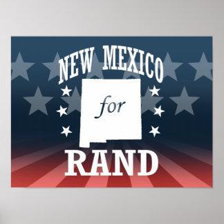 NEW MÉXICO PARA EL RAND PAUL PÓSTER