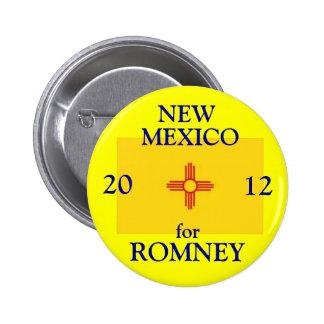 New México para Romney 2012 Pin Redondo De 2 Pulgadas