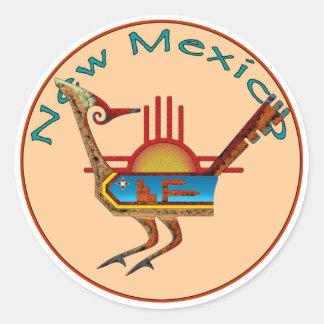New México Pegatina Redonda