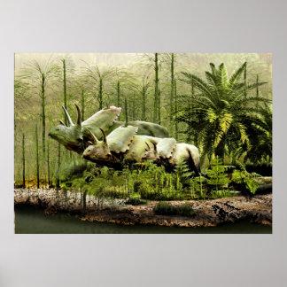 New México Pentaceratops Póster
