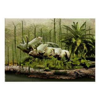 New Mexico Pentaceratops Print
