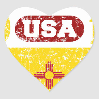 NEW MEXICO PERFECT TOGETHER DISTRESSED PRODUCTS HEART STICKER