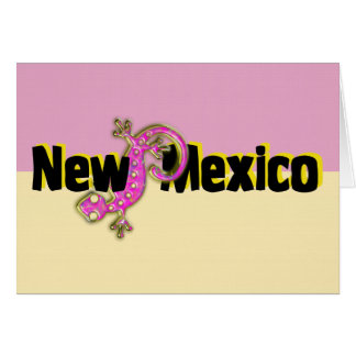 New Mexico Pink Lizard Card