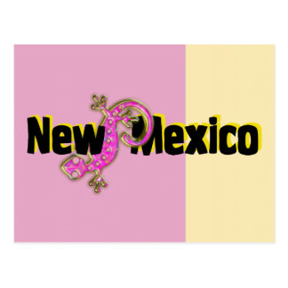 New Mexico Pink Lizard Postcards
