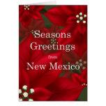 New Mexico Poinsettia Seasons Greetings Christmas Card