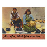 New Mexico, Pottery Makers, San Ildefonso Pueblo Postcard
