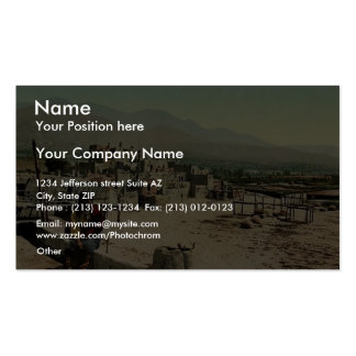 New Mexico. Pueblo de Taos classic Photochrom Double-Sided Standard Business Cards (Pack Of 100)