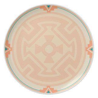 New Mexico Pueblo Design Melamine Plate