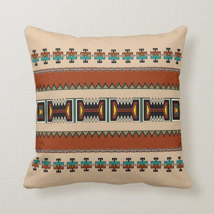 New Mexico Pueblo Design Throw Pillow Zazzle
