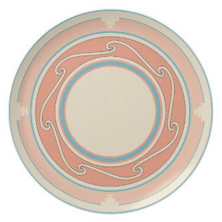 New Mexico, Pueblo Style Melamine Plate
