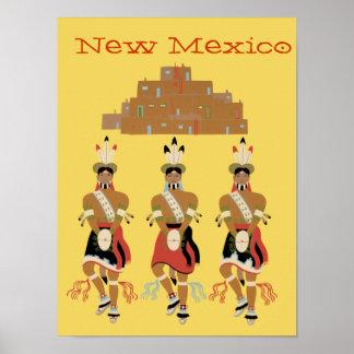 New Mexico Pueblo Turtle Dancers Poster