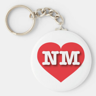 New Mexico Red Heart - Big Love Keychain