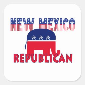 New Mexico Republican Square Sticker