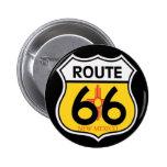 New Mexico Route 66 Shield 2 Inch Round Button