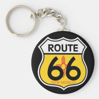 New Mexico Route 66 Shield Keychain