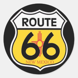 New Mexico Route 66 Shield Round Sticker