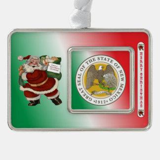 New Mexico Santa Claus Christmas Ornament