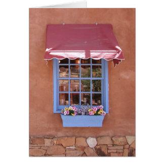 New Mexico Sante Fe Shop Window Greeting Card
