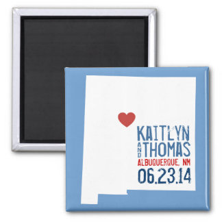 New Mexico Save the Date - Customizable City 2 Inch Square Magnet