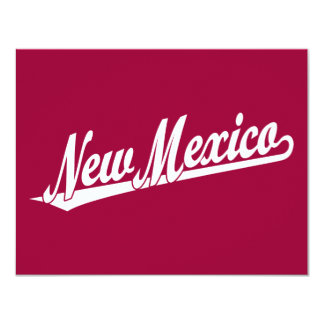 New Mexico script logo in white Card