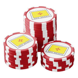 New Mexico Set Of Poker Chips