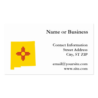New Mexico Shape Double-Sided Standard Business Cards (Pack Of 100)