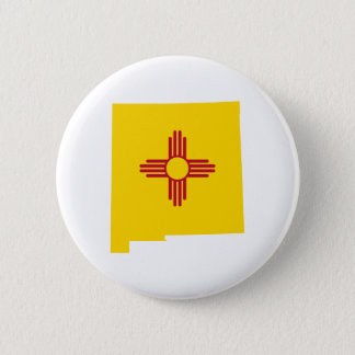 New Mexico Shape Pinback Button