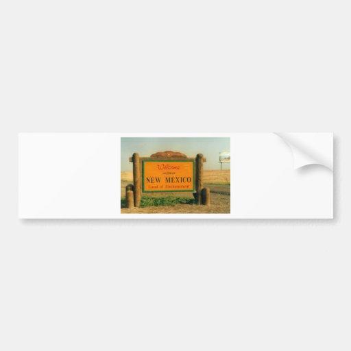 New Mexico Sign Bumper Sticker