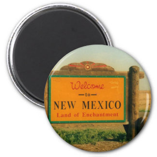 New Mexico Sign Refrigerator Magnet