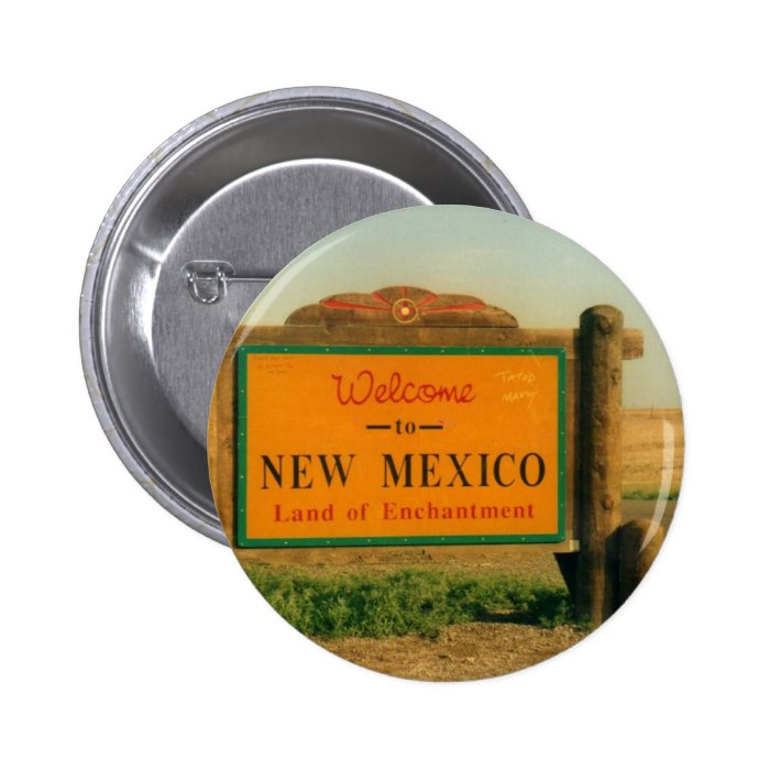 New Mexico Sign Pinback Button