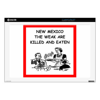 """new mexico 17"""" laptop decal"""