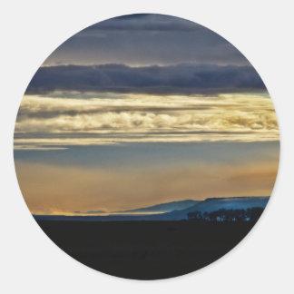 New Mexico Skyline Classic Round Sticker