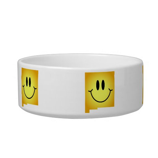 New Mexico Smiley Face Cat Water Bowl