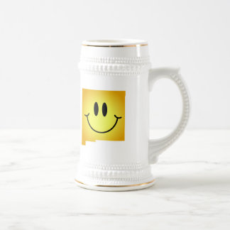 New Mexico Smiley Face 18 Oz Beer Stein