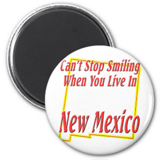 New Mexico - Smiling 2 Inch Round Magnet