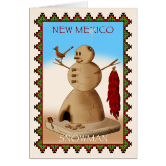 New Mexico Snowman Cards