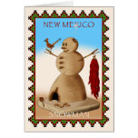 New Mexico Snowman Greeting Card