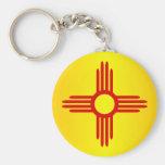 New México (SP) Llavero Redondo Tipo Pin
